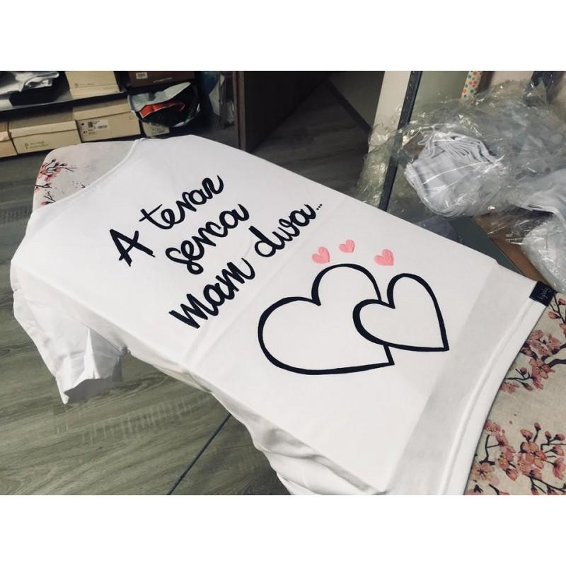 A teraz serca mam dwa + serca RÓŻOWE ... motyw dla kobiet w ciąży