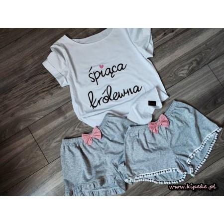 S/M - spodenki falbanka + koszulka śpiąca królewna