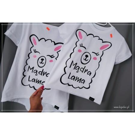 ZESTAW mama i córka LAMA koszulka z LAMĄ