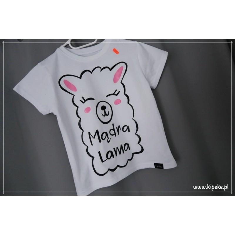 Lama koszulka dziecięca z Lamą Mądra Lama