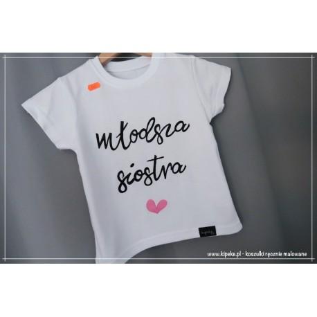 młodsza siostra serce róż koszulka