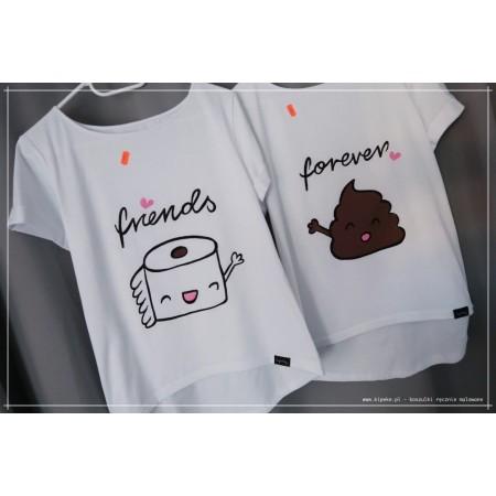 Friends Forever Papier + Kupa zestaw koszulek dla przyjaciółek