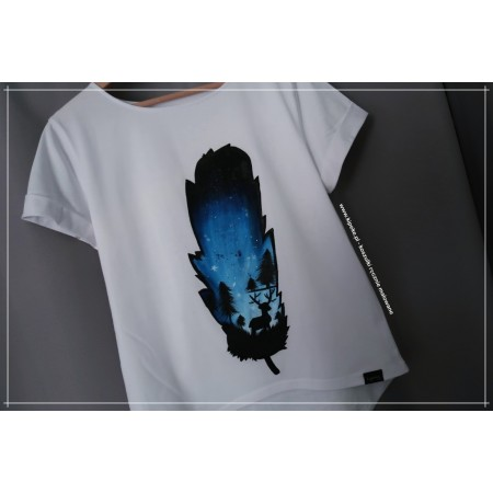 Piórko L/XL krótki rękaw klasyczny koszulka 1 sztuka