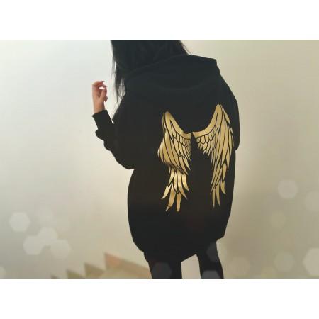 BLUZA - DŁUGA - NOWOŚĆ   -  S/M/L   skrzydła ZŁOTE