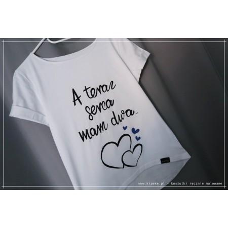 A teraz serca mam dwa + SERCA FIOLETOWE ... motyw dla kobiet w ciąży