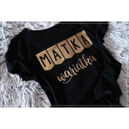 MATKA WARIATKA - S/M - czarno złota  - 2 SZTUKI