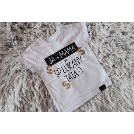 koszulka dziecięca JA + MAMA biała - rozmiar 92 - 1 sztuka