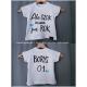 koszulka dziecięca na roczek + imię / serca: niebieskie lub różowe