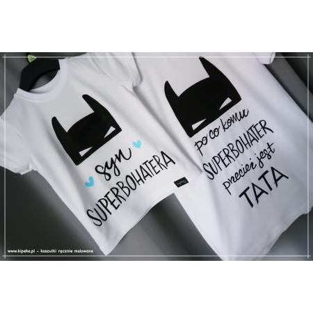 ZESTAW 2 KOSZULEK - TATA + SYN superbohater