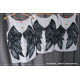 S/M koszulka ze skrzydłami na ramiączkach 1 sztuka + korona