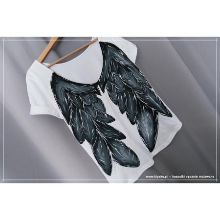 S/M dekolt plecy koszulka ze skrzydłami 1 sztuka