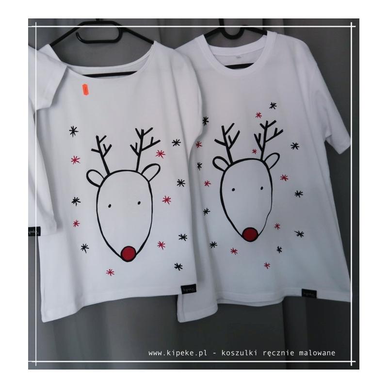 ZESTAW koszulek Renifer Koszulki świąteczne