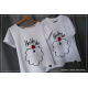 ZESTAW koszulek dla pary świąteczne Mikołaj ho ho ho