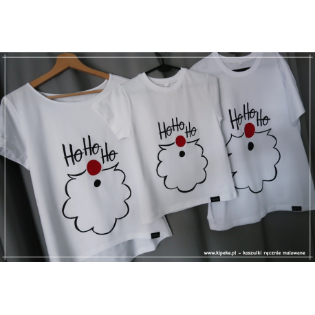 ZESTAW RODZINNY mikołaj  3 koszulki mama dziecko tata