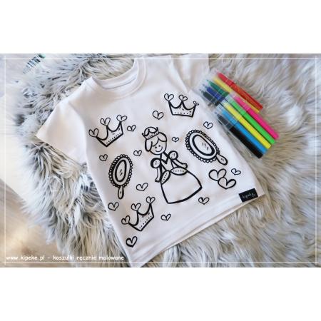 Koszulka do kolorowania |KSIĘŻNICZKA + MAZAKI GRATIS