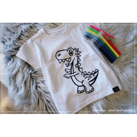 Koszulka do kolorowania |DINO bez serc + MAZAKI GRATIS