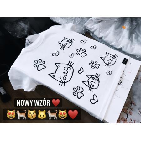 Koszulka do kolorowania | kotki + MAZAKI GRATIS
