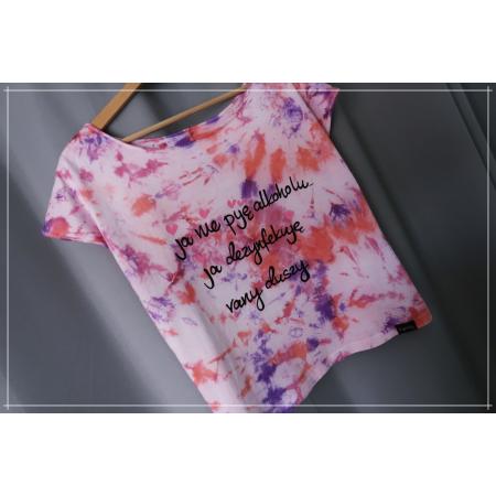 Koszulka TIY DIY L/XL 1 sztuka z napisem