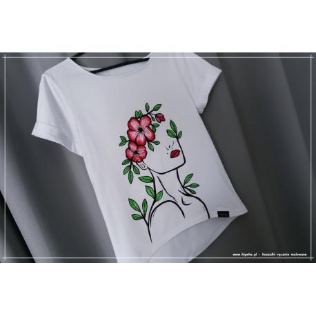 S/M kobieta kwiaty 1 sztuka ręcznie malowana