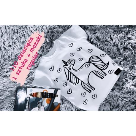1 sztuka PROMOCJA koszulka kolorowanka 110 + mazaki