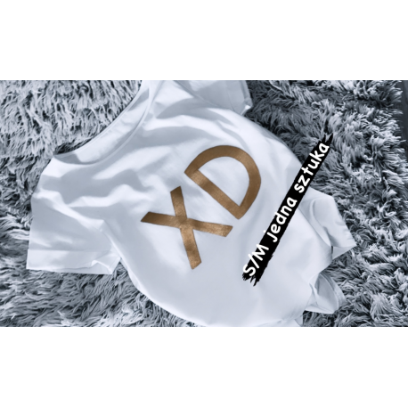 1 sztuka PROMOCJA koszulka s/m klasyk, XD złote
