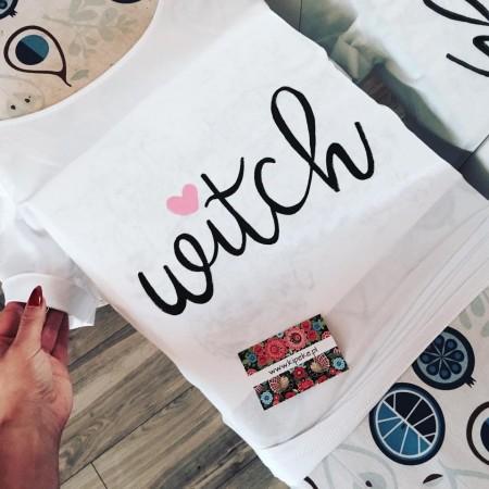 witch + serduszko różowe